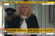 Elena Udrea iesind de la politie