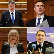 Klaus Iohannis, Florian Coldea, Elena Udrea si Victor Ponta