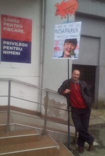 Manifestant anti-Macovei