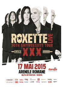 Afis concert Roxette 2015