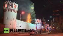 Incendiu la Manastirea Novodevici