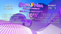 Eurovision Romania - ordine finala nationala