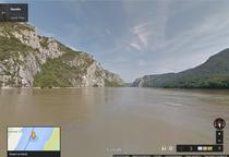 Cazanele Dunarii, pe Street View