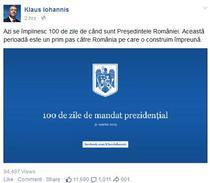 Postarea jubiliara a lui Klaus Iohannis