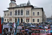 Protest anti-Ponta la Targu Jiu