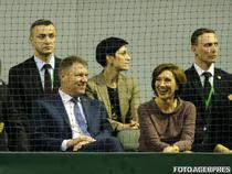 Klaus si Carmen Iohannis, la meciul de Cupa Davis