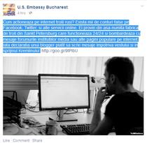 Mesajul de pe Facebook al Ambasadei SUA