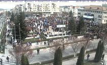 Centrul orasului Mioveni la ora 13.30