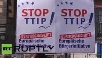 Proteste fata de TTIP in Frankfurt