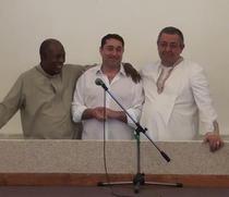 Cristian David la ceremonia botezului
