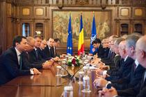 Intalnire Klaus Iohannis, ministrul Educatiei Sorin Cimpeanu si Consiliul National al Rectorilor