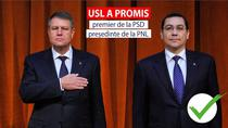 USL a promis premier de la PSD presedinte de la PNL