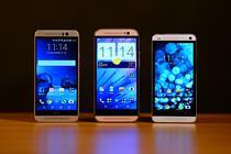 De la stanga la dreapta: HTC One M9, M8 si M7