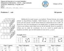 Fragment din Subiectele de la Olimpiada Nationala de Informatica 2015