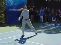 Obama joaca tenis