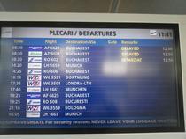 Tabela Aeroportul din Timisoara, fotografie facuta de senatorul Cristian Bodea