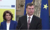 Valdis Dombrovskis, declaratii la Bucuresti
