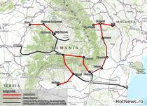 Harta - autostrazi si drumuri expres prioritare pana in 2020