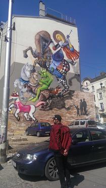 Pictura murala stearsa