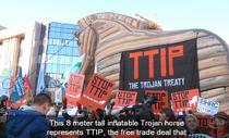 Protest TTIP in Bruxelles (februarie 2015)