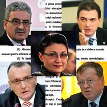 Simion Hancescu, Marius Nistor, Anton Hadar, Sorin Cimpeanu si Ecaterina Andronescu