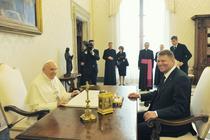 Klaus Iohannis, primit de Papa Francisc