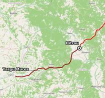 Tronsonul de autostrada planificat intre Tg Mures si Ditrau