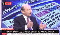 Traian Basescu la Adevarul LIVE