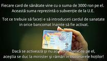 Farsa zilei: Cardul de sanatate, cu bani de la UE