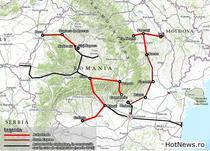Harta - autostrazi si drumuri expres prioritare pana in 2020 - conform MPGT mai 2015