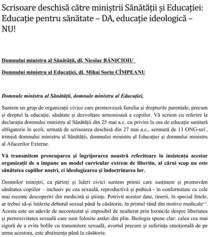 Fragment din scrisoarea deschisa a ONG-urilor