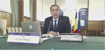 Victor Ponta, la sedinta de Guvern
