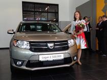 Diana Ileana Serban alaturi de Dacia Logan 1.500.000