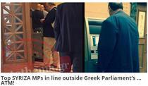 Politicieni greci, la coada la bancomat