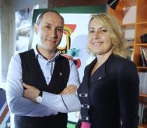 Marian Alecsiu si Dana Becheru, cofondatorii F64