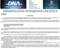 Fragment din comunicatul DNA