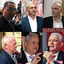 Victor Ponta, Liviu Dragnea, Sebastian Ghita, Viorel Hrebenciuc, Adrian Nastase si Ilie Sarbu