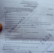 Fragment din subiectele de la examenul de Matematica