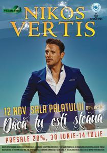 Nikos Vertis, concert la Sala Palatului