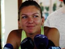 Simona Halep, zambitoare la intalnirea cu jurnalistii