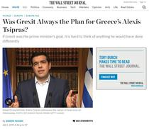 A urmarit de fapt Tsipras un Grexit?
