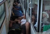 Imigranti in tren