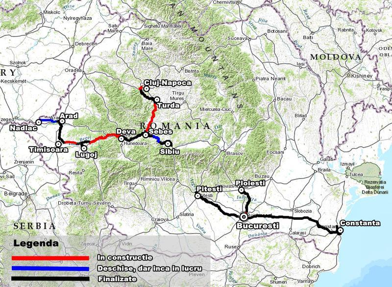 Harta Interactiva Stadiul Lucrarilor Pe Fiecare Autostrada Din