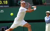 Roger Federer, in actiune la Wimbledon