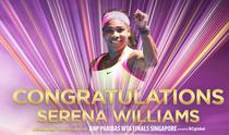 Serena Williams, la Turneul Campioanelor