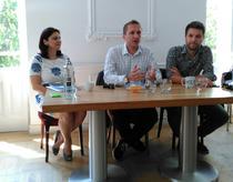 Aleksandras Cesnavicius, seful PRO TV, Lucia Antal, director de marketing Pro TV si Andi Moisescu, producator TV