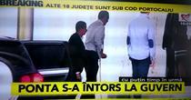 Victor Ponta a revenit la Guvern