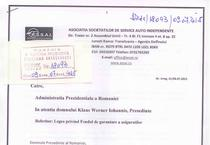 Adresa catre Presedintele Iohannis