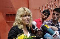 Elena Udrea, la ieseirea din penitenciar