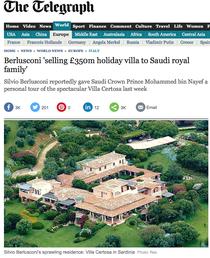 Vila lui Berlusconi din Sardinia are 68 de camere si sase piscine